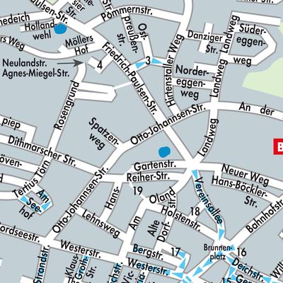 Karte von Büsum - Stadtplandienst Deutschland
