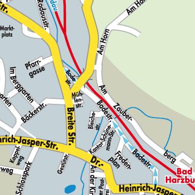Karte Bad Harzburg
