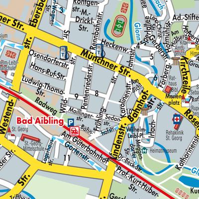 Karte von Bad Aibling - Stadtplandienst Deutschland