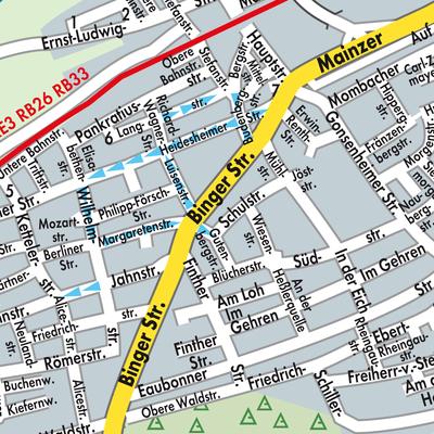 Karte von Budenheim - Stadtplandienst Deutschland