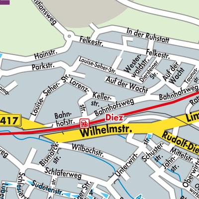 Karte von Diez - Stadtplandienst Deutschland