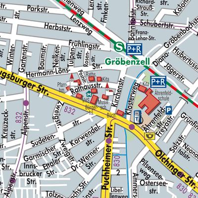 Fläche Berlin Karte Gröbenzell Stadtplandienst Deutschland