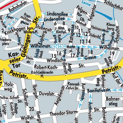 Karte von Heilbad Heiligenstadt - Stadtplandienst Deutschland