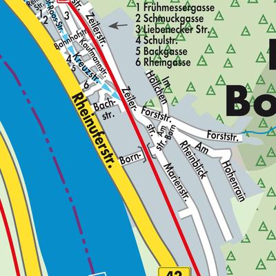 Karte von Kamp-Bornhofen - Stadtplandienst Deutschland