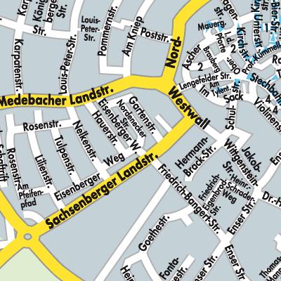 Karte von Korbach - Stadtplandienst Deutschland