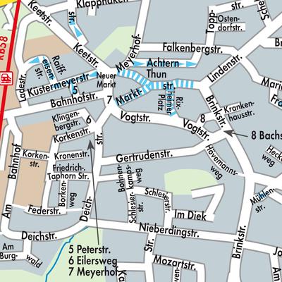 Karte von Lohne (Oldenburg) - Stadtplandienst Deutschland