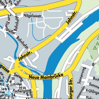 Karte von lohr am main stadtplandienst deutschland for Heimbach lohr am main