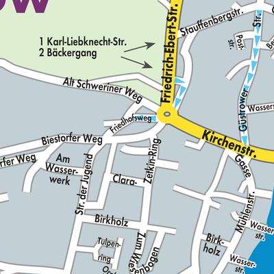 Karte von Malchow - Stadtplandienst Deutschland