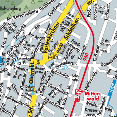 Karte von Mittenwald - Stadtplandienst Deutschland