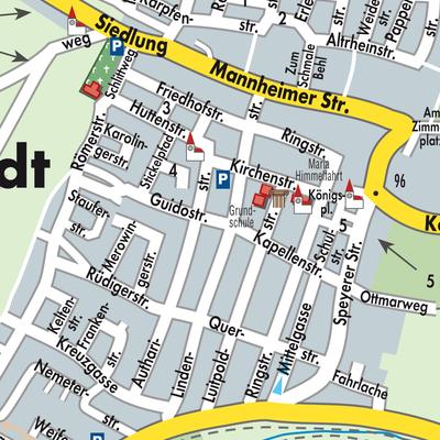 Karte von Otterstadt - Stadtplandienst Deutschland