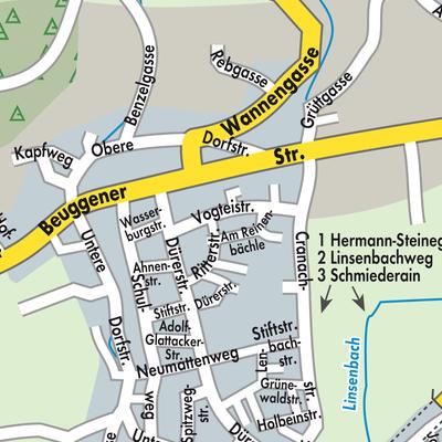 Karte von rheinfelden baden stadtplandienst deutschland for Freibad rheinfelden baden