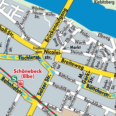 Karte von Schönebeck (Elbe) - Stadtplandienst Deutschland