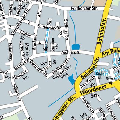 Karte von Steinhagen - Stadtplandienst Deutschland