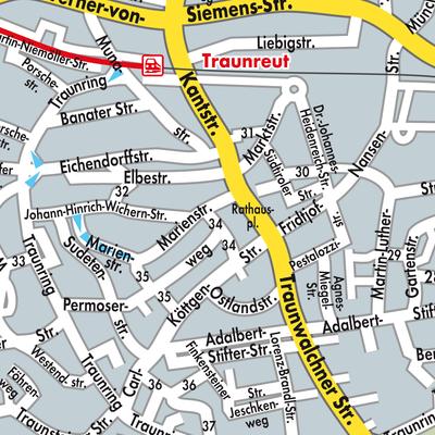 Karte von Traunreut - Stadtplandienst Deutschland