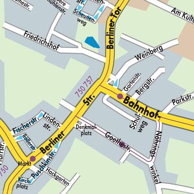 Karte von Trebbin - Stadtplandienst Deutschland