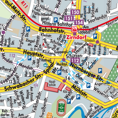 Karte von Zirndorf - Stadtplandienst Deutschland