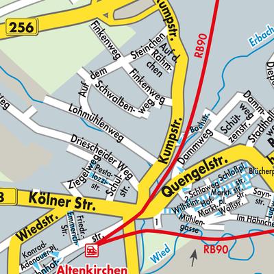 Westerwald Karte.Karte Von Altenkirchen Westerwald Stadtplandienst