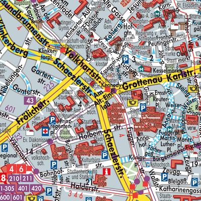 Karte Augsburg.Karte Von Augsburg Stadtplandienst Deutschland
