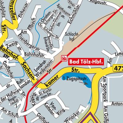 bad tölz karte Karte von Bad Tölz   Stadtplandienst Deutschland