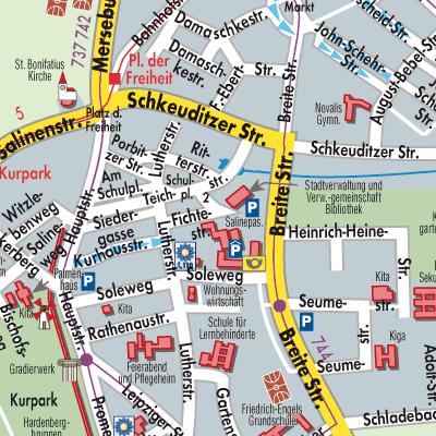 Karte von Bad Dürrenberg - Stadtplandienst Deutschland