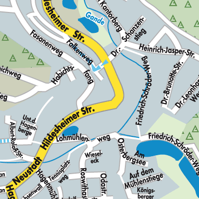 Karte von Bad Gandersheim - Stadtplandienst Deutschland
