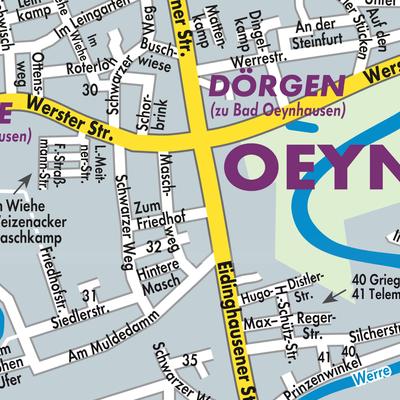 Bad Oeynhausen Stadtplan