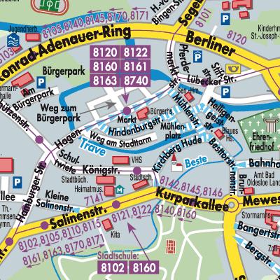 Telefonbuch Bad Oldesloe : karte von bad oldesloe stadtplandienst deutschland ~ Watch28wear.com Haus und Dekorationen