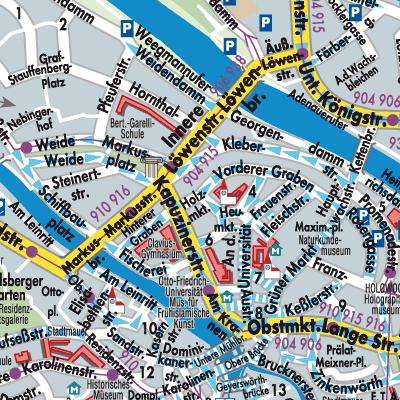 Karte Bamberg.Karte Von Bamberg Stadtplandienst Deutschland