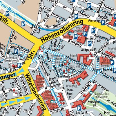 Side T303274rkei Karte.Bayreuth Karte