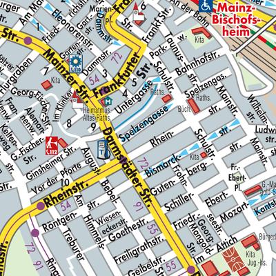 Karte von Bischofsheim - Stadtplandienst Deutschland