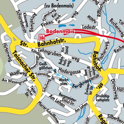Karte von Bodenmais - Stadtplandienst Deutschland