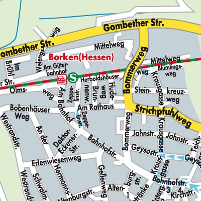 Karte von Borken (Hessen) - Stadtplandienst Deutschland