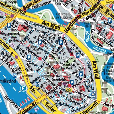 sehenswürdigkeiten bremen karte Karte von Bremen   Stadtplandienst Deutschland
