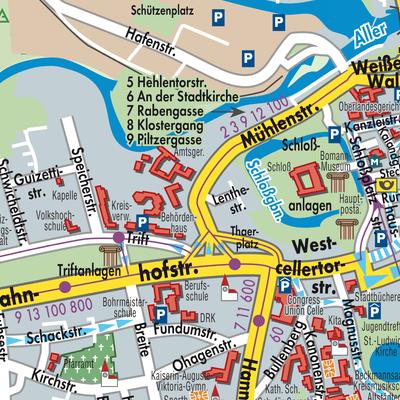 Karte Von Celle Stadtplandienst Deutschland