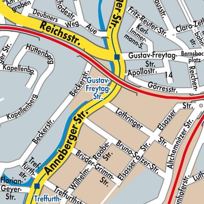 Karte Chemnitz.Karte Von Chemnitz Stadtplandienst Deutschland