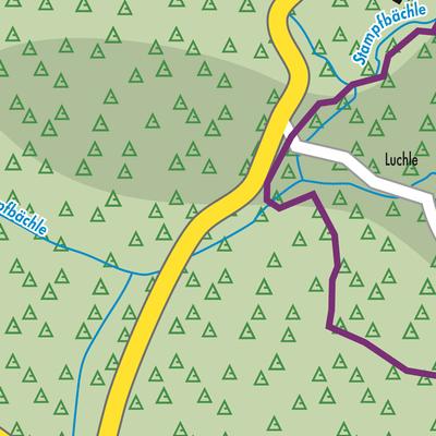 Südschwarzwald Karte.Karte Von Dachsberg Südschwarzwald Stadtplandienst Deutschland