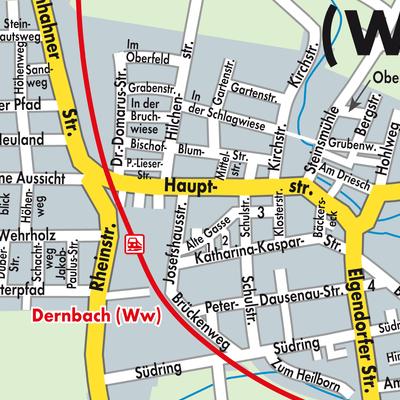 Westerwald Karte.Karte Von Dernbach Westerwald Stadtplandienst Deutschland