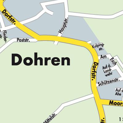 Emsland Karte.Karte Von Dohren Stadtplandienst Deutschland