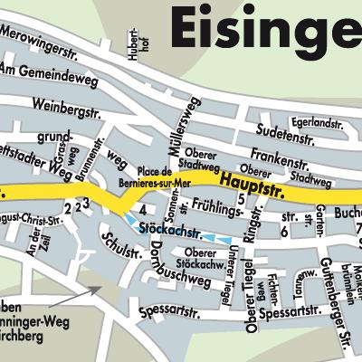 Unterfranken Karte.Karte Von Eisingen Stadtplandienst Deutschland