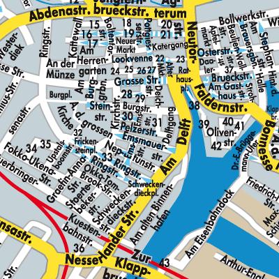Emden Karte.Karte Von Emden Stadtplandienst Deutschland
