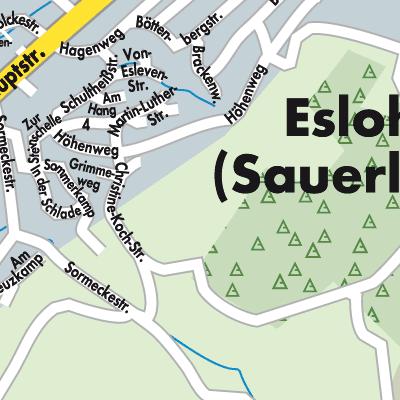 Sauerland Karte Deutschland.Karte Von Eslohe Sauerland Stadtplandienst Deutschland