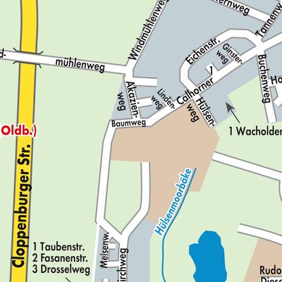 Karte Essen.Karte Von Essen Oldenburg Stadtplandienst Deutschland