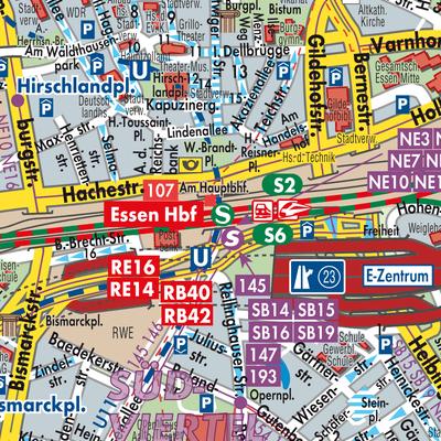 Karte Essen.Karte Von Essen Stadtplandienst Deutschland