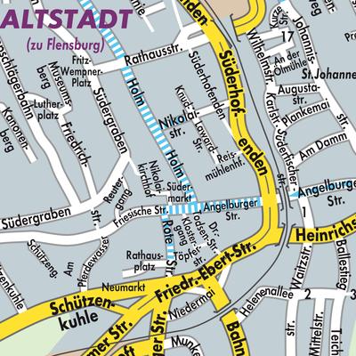 Flensburg Karte.Karte Von Flensburg Stadtplandienst Deutschland
