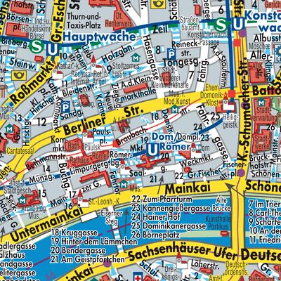 Main Fluss Karte.Karte Von Frankfurt Am Main Stadtplandienst Deutschland
