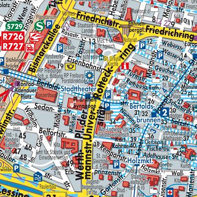 Freiburg Karte.Karte Von Freiburg Im Breisgau Stadtplandienst Deutschland
