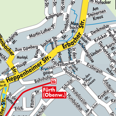 Karte von Fürth (Odenwald) - Stadtplandienst Deutschland