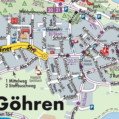 Karte Von Gohren Stadtplandienst Deutschland