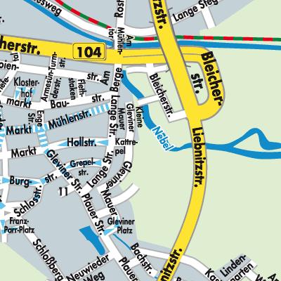 Güstrow Karte.Karte Von Güstrow Stadtplandienst Deutschland