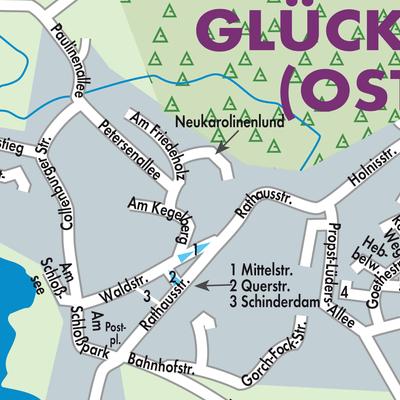 Karte Ostsee Deutschland.Karte Von Glücksburg Ostsee Stadtplandienst Deutschland